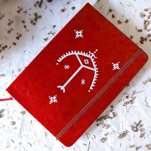 Carnet OLBIA personnalisé rouge - arc