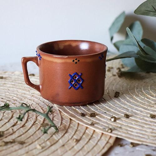 COLLO - Tasse à café terracotta et bleu