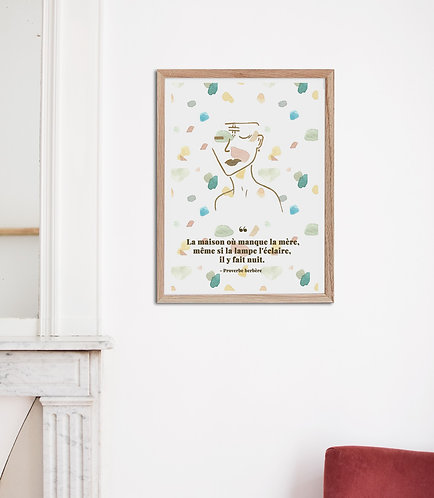 MASSA - Affiche proverbe aquarelle