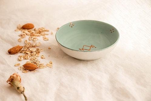 PALERME - Coupelle apéritif en porcelaine vert d'eau