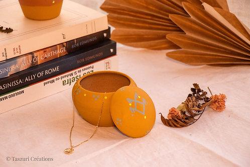 TIZA - Boîtes à bijoux en terre cuite jaune curry