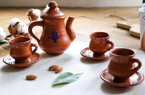 BODRUM - Service à café en terre cuite