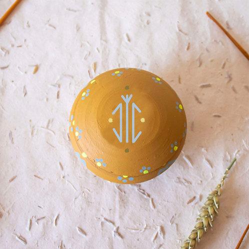 Boîte à bijoux TIZA personnalisée jaune - arbre