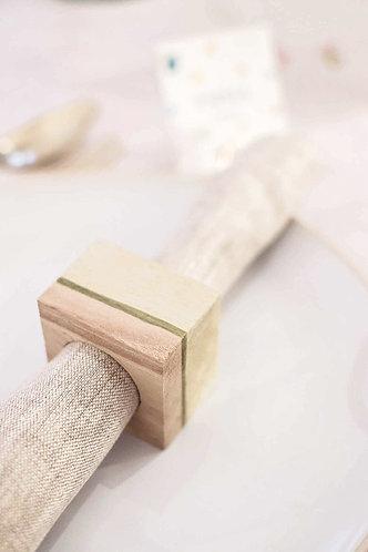 Rond de serviette en bois - Cadeau invité mariage