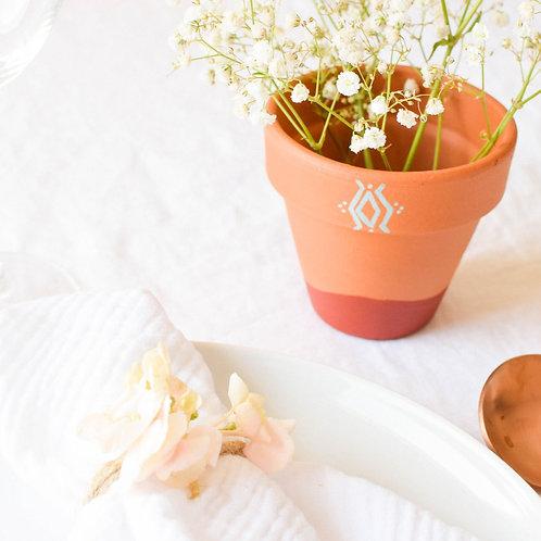 FILFILA - Pot en terre cuite - Cadeau invité mariage
