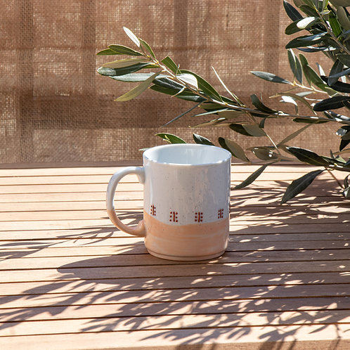 BOSSEA - Mug en porcelaine bicolore argile rose