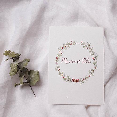 Faire-part de mariage bohême-chic
