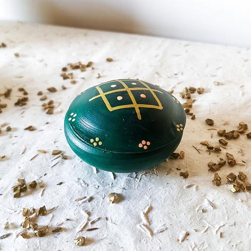 TIZA - Boîtes à bijoux en terre cuite vert foncé