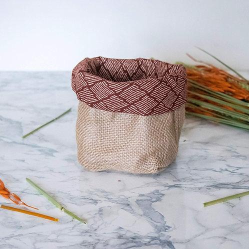 PIANA - Pochon de rangement en jute terracotta