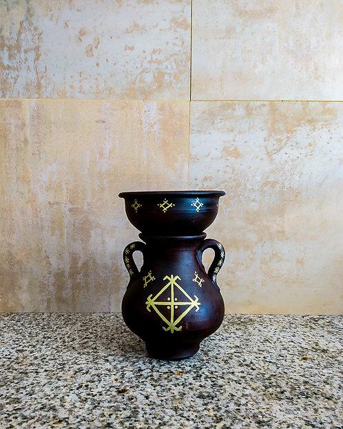 ELMA - Jarre en terre cuite brune