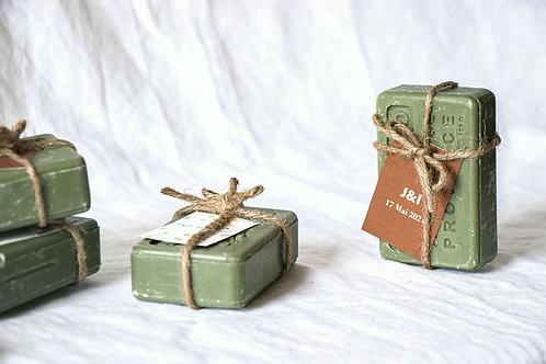 Savon de Provence terracotta avec fil de jute - Cadeau invité mariage
