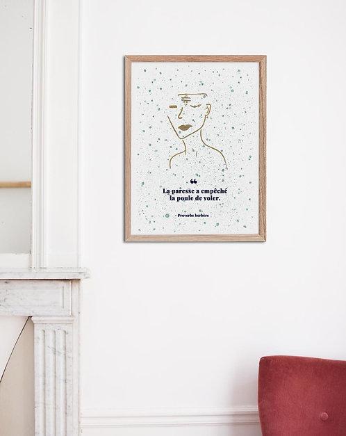 MISRATA - Affiche proverbe aquarelle
