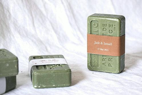 Savon de Provence étiqueté terracotta - Cadeau invité mariage