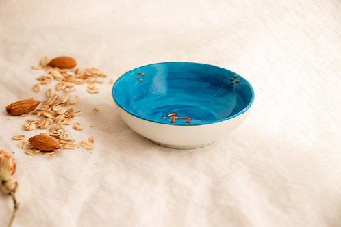 PALERME - Coupelle apéritif en porcelaine bleu méditerranée