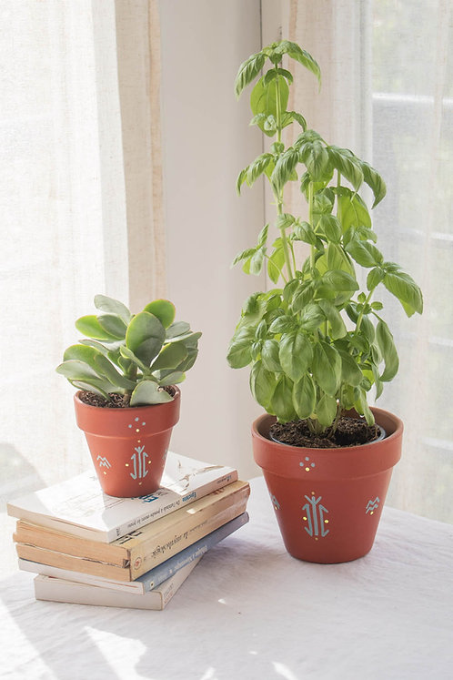 CALVI - Pot de fleur en terre cuite terracotta
