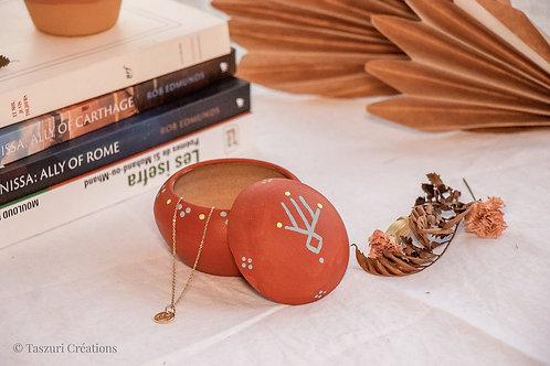TIZA - Boîtes à bijoux en terre cuite terracotta