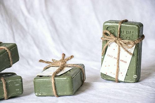 Savon de Provence nude avec fil de jute - Cadeau invité mariage