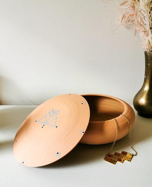 MILA- Grandes boîtes à bijoux en terre cuite pêche