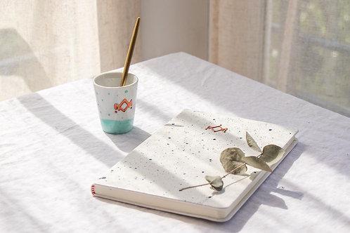 OLBIA - Carnet moucheté blanc
