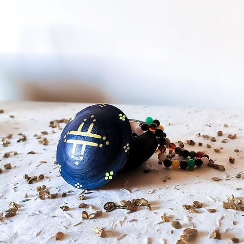 TIZA - Boîtes à bijoux en terre cuite bleu marine