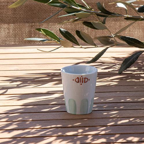 ALIKO - Petites tasses à expresso en porcelaine vert sauge