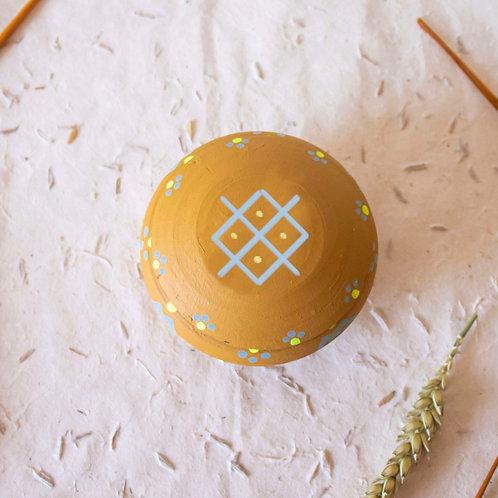 Boîte à bijoux TIZA personnalisée jaune - femme