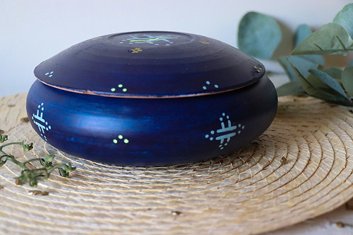 MILA- Grandes boîtes à bijoux en terre cuite bleu
