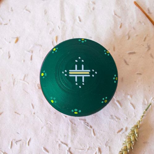 Boîte à bijoux TIZA personnalisée vert - soleil