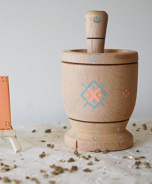 TIZIRI - Mortier en bois design
