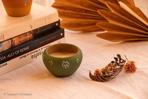 FIGUERA - Bougie bio à la verveine vert olive