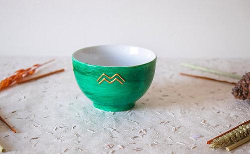 GORDES - Petits bols à thé vert émeraude
