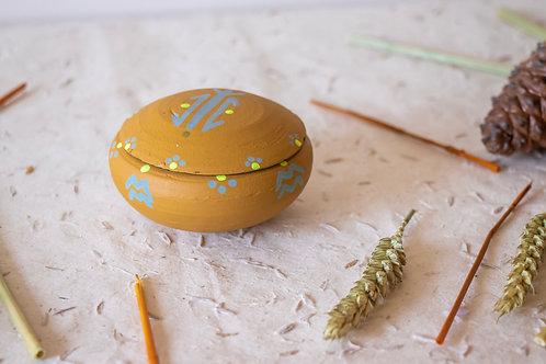 TIZA- Boîtes à bijoux en terre cuite moutarde