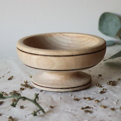 SOREDE - Petite coupelle en bois brut