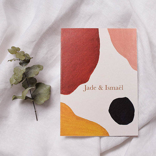 Faire-part de mariage minimaliste abstrait
