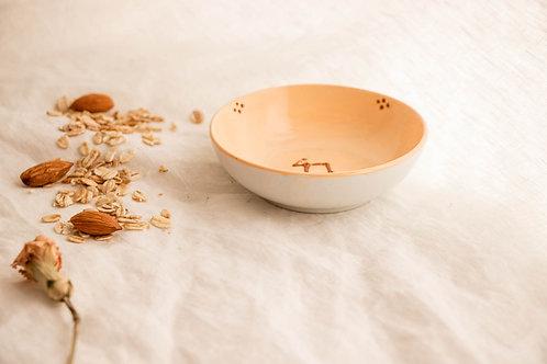 PALERME - Coupelle apéritif en porcelaine pêche
