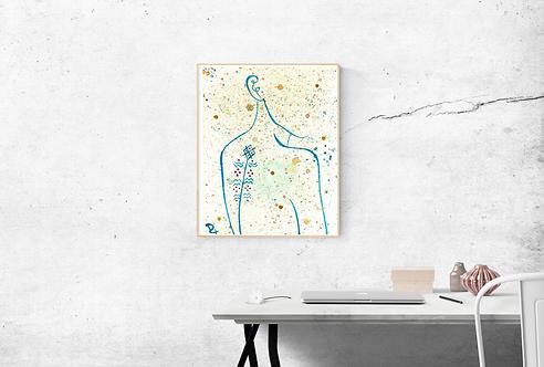 MORELLA - Affiche aquarelle
