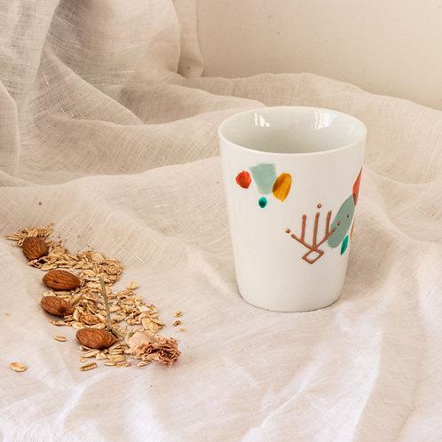 LATTE - Mug en porcelaine terrazzo
