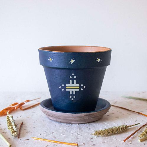 Pot FIGARI personnalisé bleu - soleil