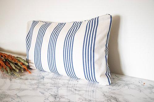 SIWA - Housse de coussin rectangulaire rayures bleues