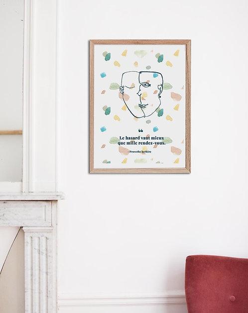TARTOUS - Affiche proverbe aquarelle