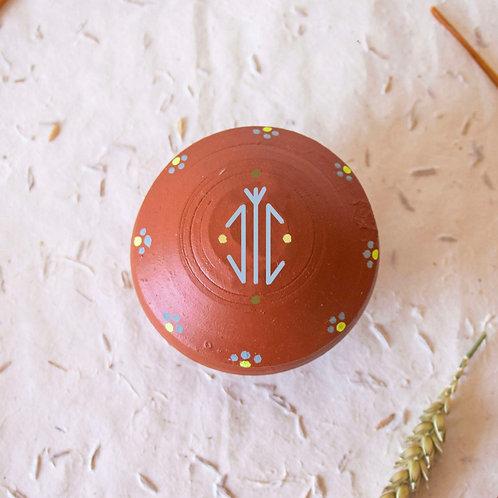 Boîte à bijoux TIZA personnalisée rouge - arbre