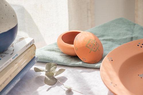 TIZA - Boîtes à bijoux en terre cuite orange