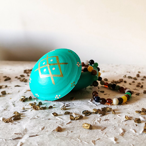 TIZA - Boîtes à bijoux en terre cuite turquoise