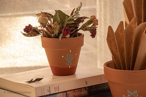 PISE - Petit pot de fleur en terre cuite bicolore terracotta