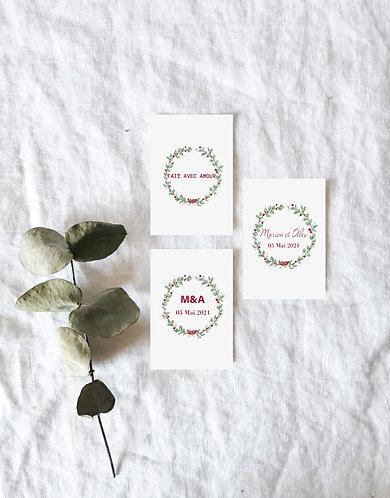 Étiquettes pour cadeau invité mariage bohème-chic