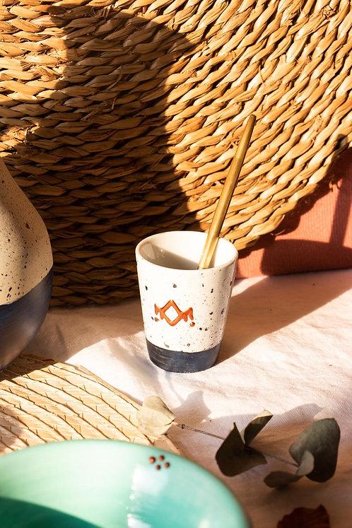ALIKO - Petites tasses à expresso en porcelaine mouchetée