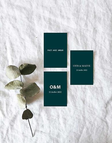 Étiquettes cadeau invité mariage moderne