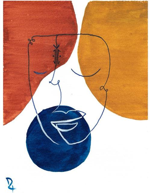 LORCA - Affiche aquarelle A4
