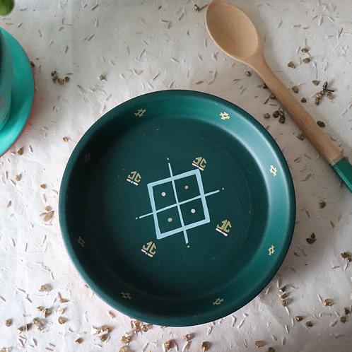 LINDOS - Vide-poche en terre cuite vert