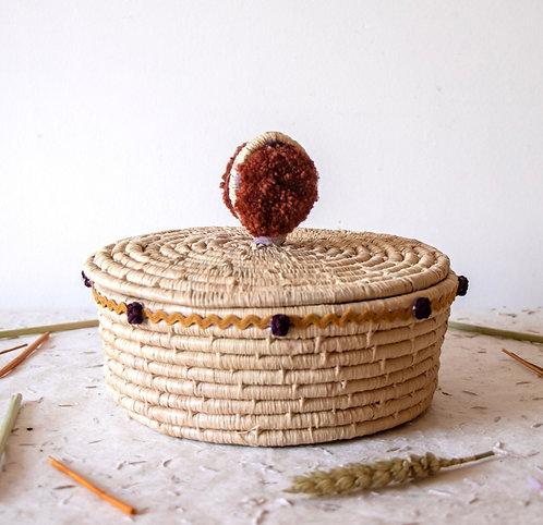 GIRBA - Boîte de rangement en osier terracotta
